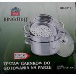 Garnek do gotowania na parze 4 el. KING HOFF 5 L