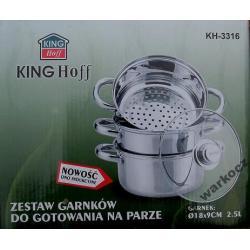 Garnek do gotowania na parze 4 el. KING HOFF 2.5 L