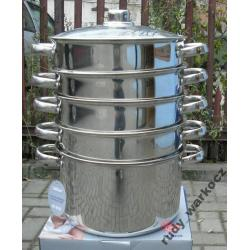 Garnek do gotowania na parze 6 el. HOFFNER 24 cm