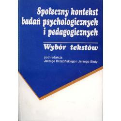 PSYCHOLOGIA SPOLECZNA Metodologia Badania Kontekst