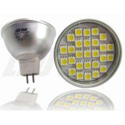 LED line Żarówka LED MR16 27 SMD 5050 5W (50W) 380lm 12V barwa ciepła 0676