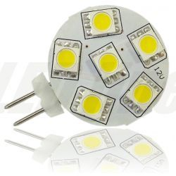 LED line Żarówka LED G4 6 SMD 5050 1,2W (12W) 85lm 12V barwa zimna 1987