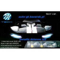Światła DZIENNE 2x5 LED moduł M-tech Oryginał !