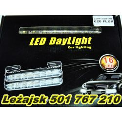 LAMPY światła DZIENNE RL 620 FLUX 18 led 156*24 mm