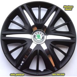 Kołpaki MAXIMUS BLACK 15' emblematyGRATIS Skoda VW