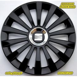 Kołpaki MERIDIAN Black 15 Audi VW Opel Honda CFiat