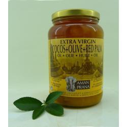 Olej kokosowy + Oliwa z oliwek + Olej palmowy BIO Extra Virgin 1600 ml